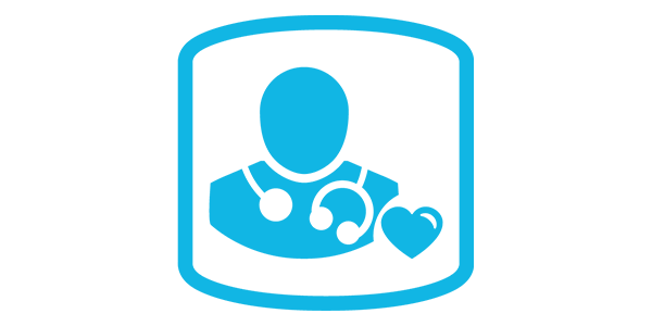 health professional icon with stethoscope