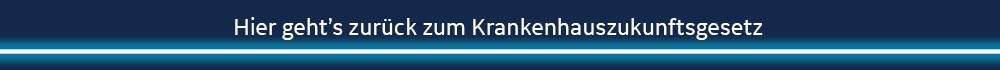 Krankennhauszukunftsgesetz Webseiten-Banner